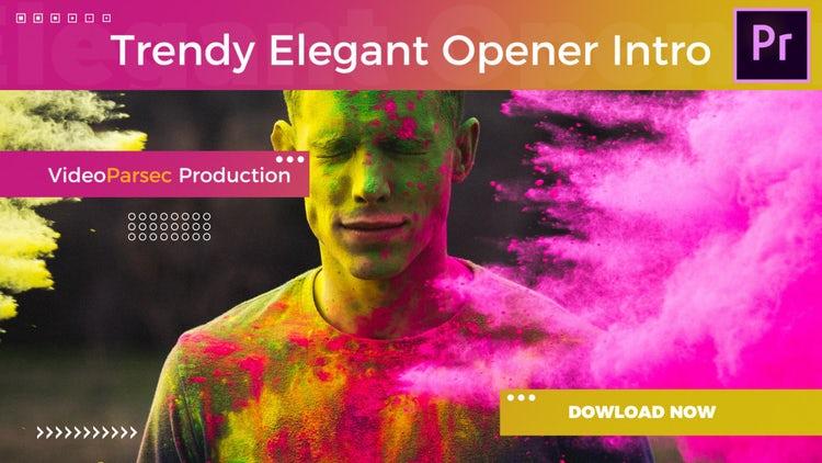 Trendy Elegant Opener Intro: Premiere Pro Templates