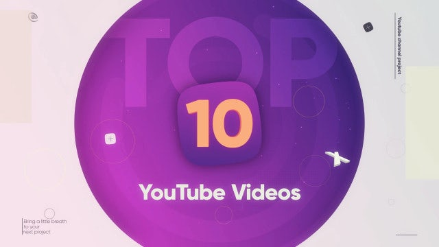 Top 10 Videos: After Effects Templates
