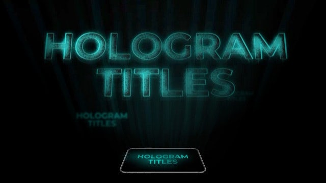 Hologram Titles: Premiere Pro Templates