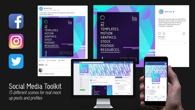 Social Media Toolkit: After Effects Templates