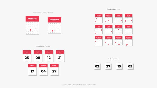 Animated Calendar: After Effects Templates