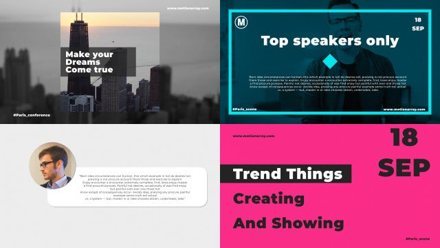Clean Promo Typography: After Effects Templates