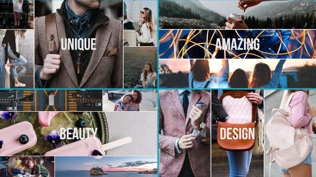 Trendy Multiframe Fashion Opener: Premiere Pro Templates