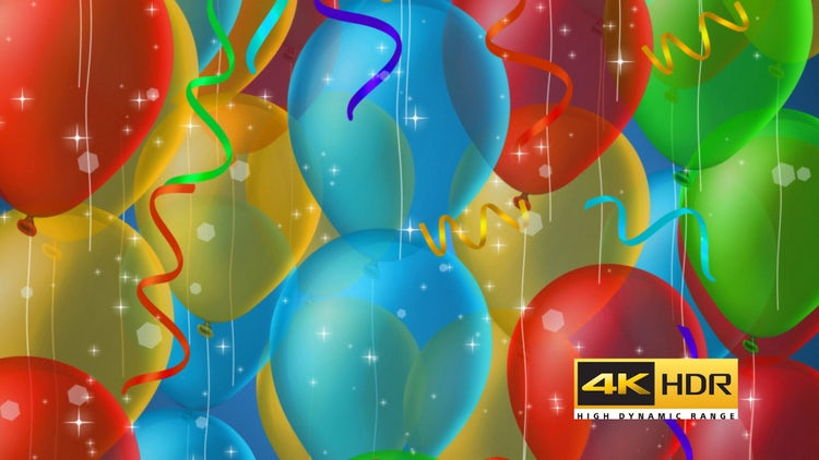 Balloon Party Background: Stock Motion Graphics