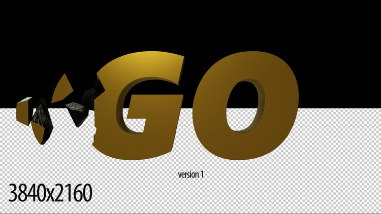 3D Gold Countdown(2 version): Stock Motion Graphics