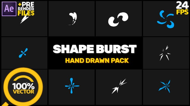 Shape Burst Pack: After Effects Templates