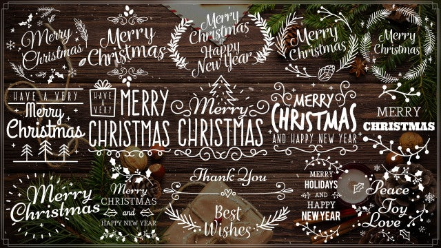Merry Christmas Titles III: After Effects Templates