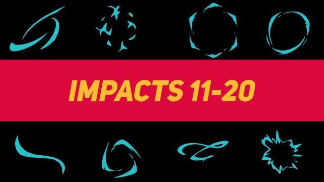Liquid Elements Impacts 11-20: Motion Graphics Templates
