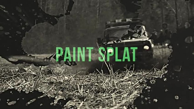 Grunge: Paint Splat: Transitions