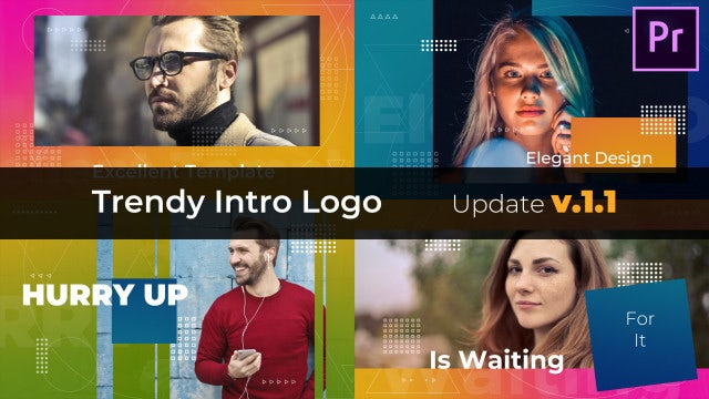 Trendy Intro Logo: Premiere Pro Templates