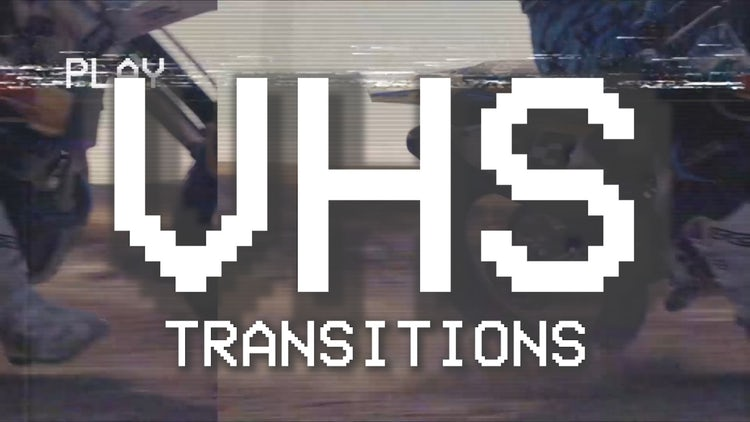 VHS Damage Transitions: Premiere Pro Templates