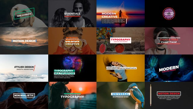 Essential Titles: After Effects Templates