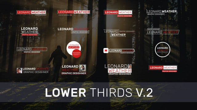 Lower Thirds V.2: Premiere Pro Templates