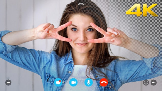 Video Chat Screen 4K Overlay: Stock Motion Graphics