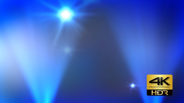 Disco Flashing Lights Blue Background: Stock Motion Graphics