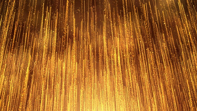 Gold Particle Streaks Rising: Stock Motion Graphics