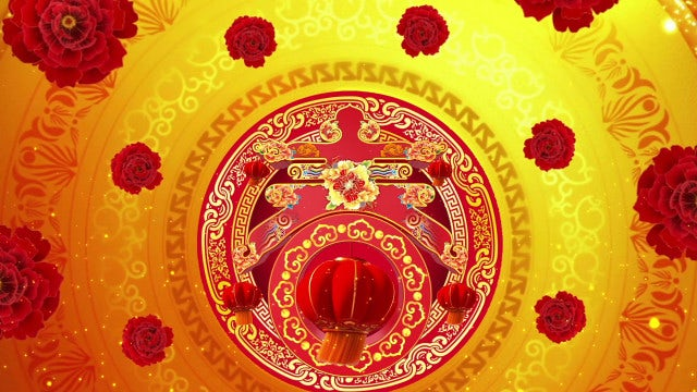 Chinese New Year Background: Stock Motion Graphics