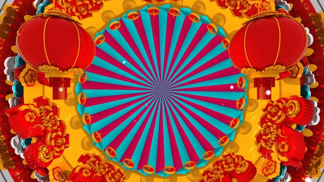 Chinese New Year Lantern Background: Stock Motion Graphics