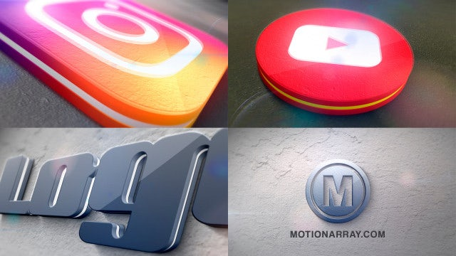 Advance 3D Extrudes Logo: After Effects Templates