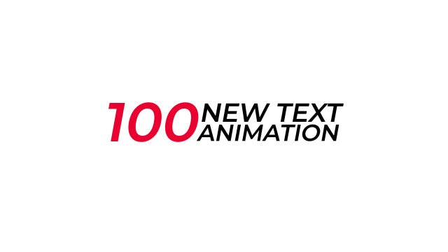 100 New Text Animation Presets: After Effects Presets