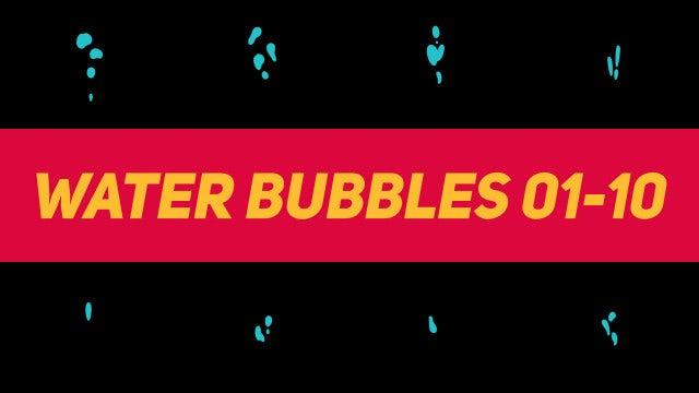 Liquid Elements Water Bubbles 01-10: Motion Graphics Templates