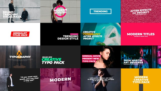 Ultra Modern Typography Pack: Motion Graphics Templates