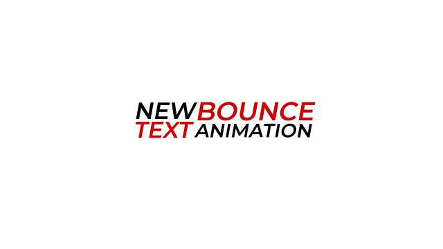 New Bounce Text Animation: Motion Graphics Templates