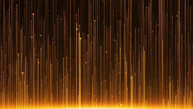 Gold Rays Rising: Stock Motion Graphics