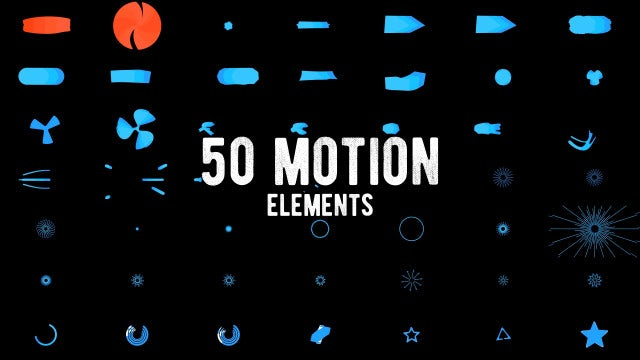 50 Motion Elements Pack: After Effects Templates