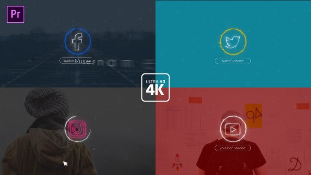 Social Logo Opener: Motion Graphics Templates