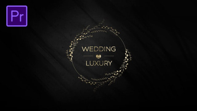 Wedding Titles Luxury: Motion Graphics Templates