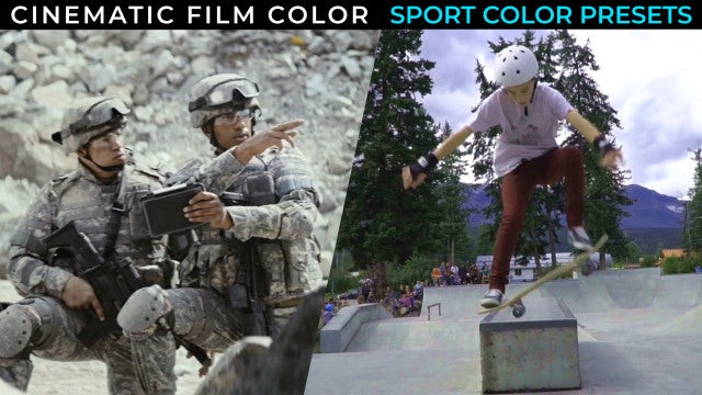 Cinematic Film Color Correction Presets: After Effects Presets
