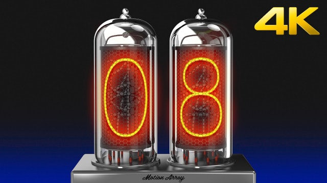 Nixie Tube Countdown: Stock Motion Graphics