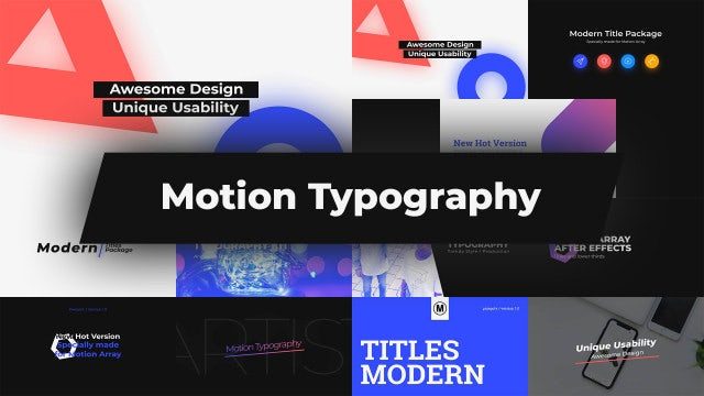 Motion Typography: Premiere Pro Templates