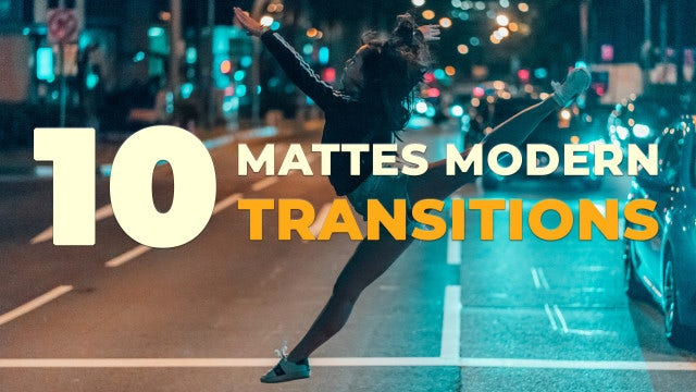 Mattes Modern Transitions: Stock Motion Graphics