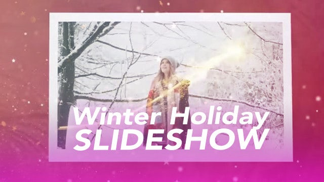 Winter Holiday Slideshow: Premiere Pro Templates