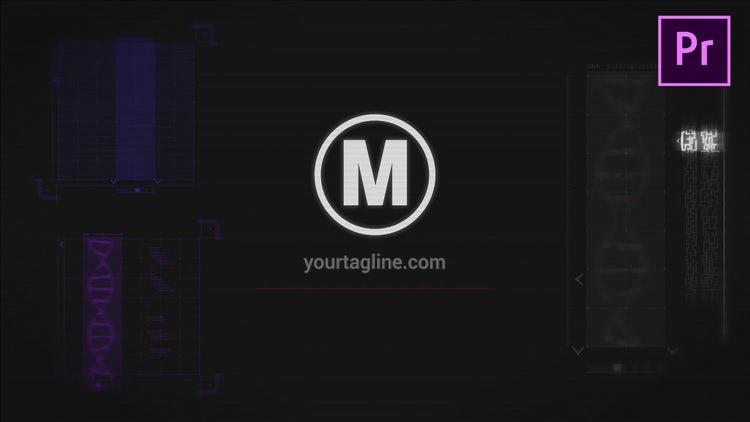 HUD Glitch Logo: Premiere Pro Templates