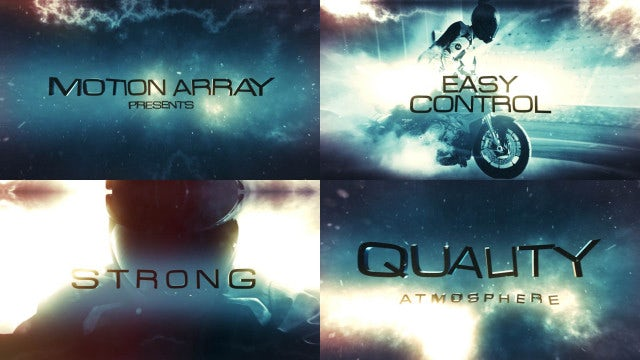 Element 3D Cinematic Slideshow: After Effects Templates