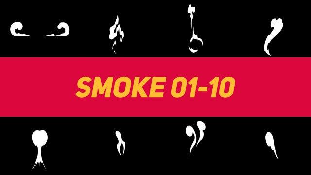 Liquid Elements Smoke 01-10: Motion Graphics Templates