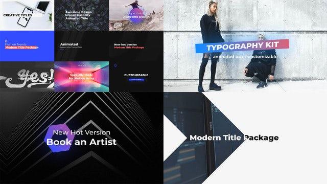 Typography: Premiere Pro Templates