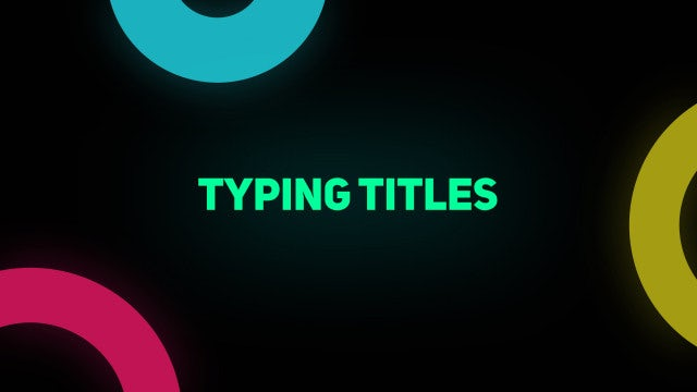 Typing Titles: After Effects Presets