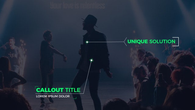 Modern Callout Titles: After Effects Templates