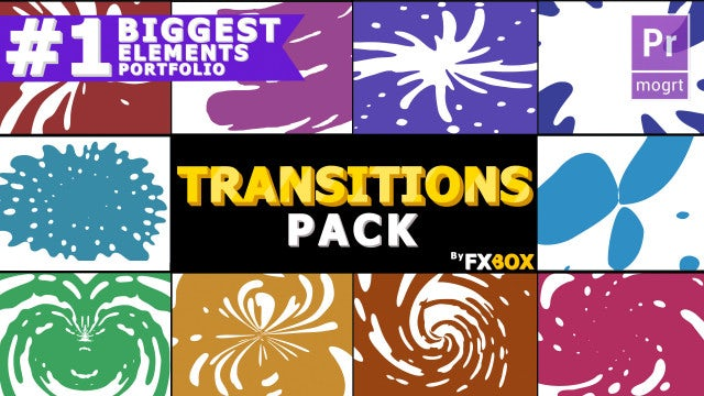 Dynamic Liquid Transitions Pack: Motion Graphics Templates