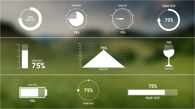 Percentage Infographics: After Effects Templates