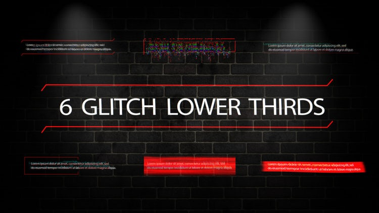 Glitch Lower Thirds: Motion Graphics Templates