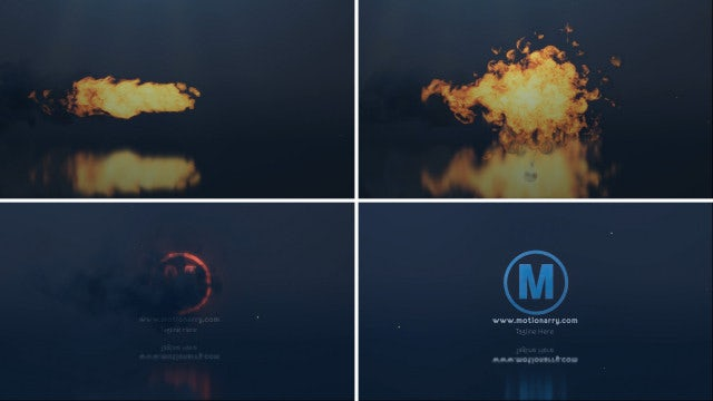 Fire Explode Logo: After Effects Templates