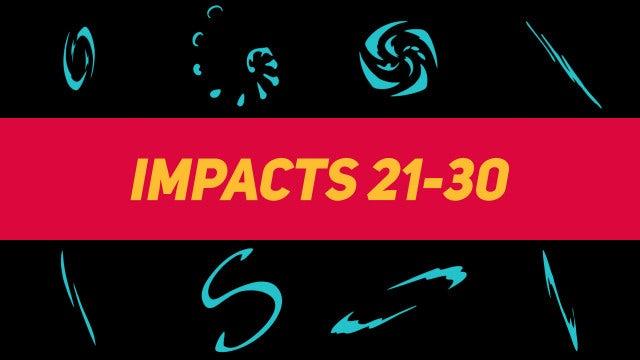 Liquid Elements Impacts 21-30: Motion Graphics Templates