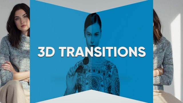 3D Transitions: Premiere Pro Templates
