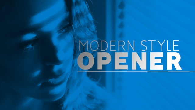 Modern Style Opener: Premiere Pro Templates