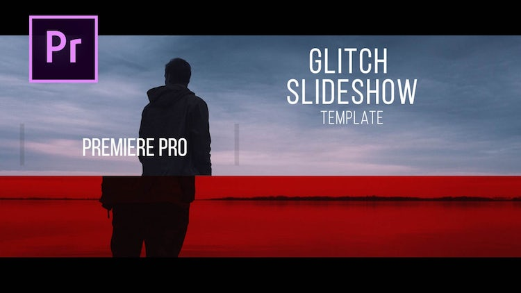 Glitch Photo Slideshow: Premiere Pro Templates